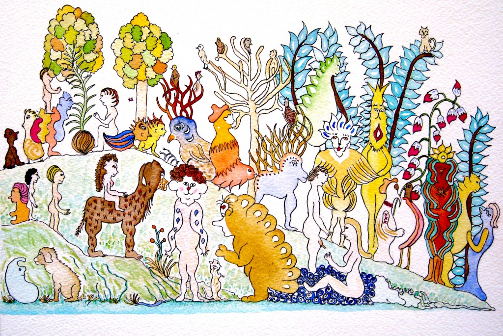 "Earthly Delights, 9""x12"", 2009, Private Collection"
