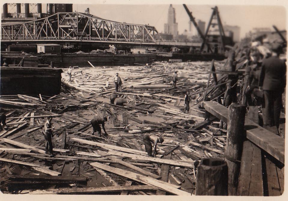 Massive destruction around Providence, RI harbor.