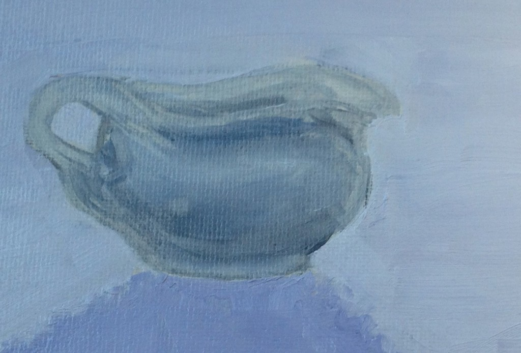 creamer mug oil painting