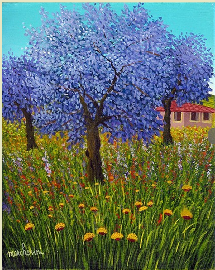 Purple Tree by Cesare  Marchesini