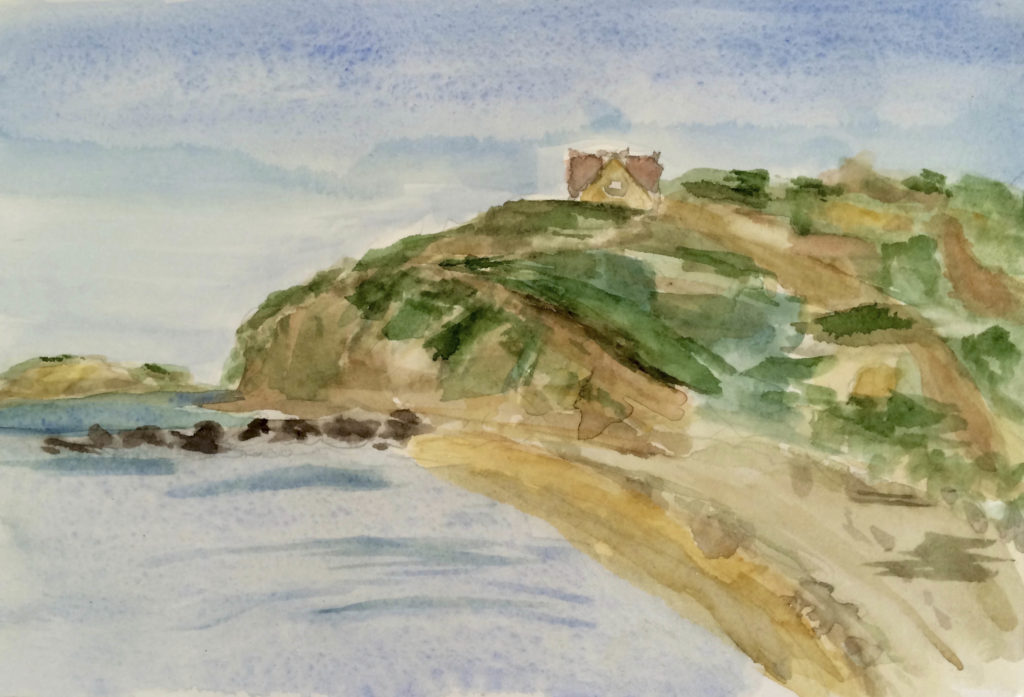 "Thurston House View #2 © Watercolor 9"" x 7"" $150 Cuttyhunk Island, MA"